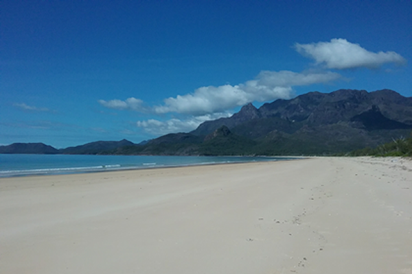 Use the Hinchinbrook Island Ferry to get to Ramsay Bay.